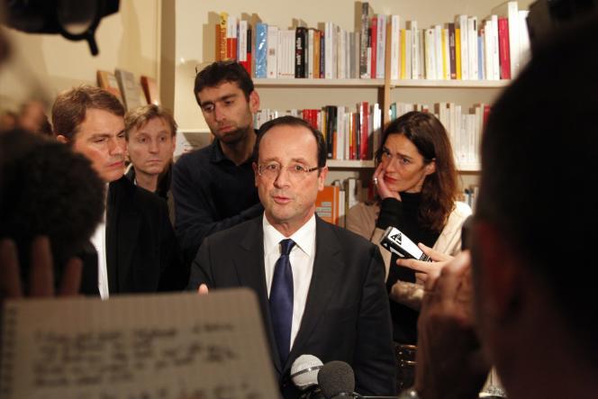 François Hollande à la librairie