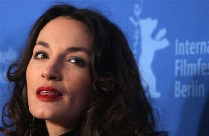 L'actrice française Jeanne Balibar lors d'une conférence de presse à Berlin, le 15 février 2007.