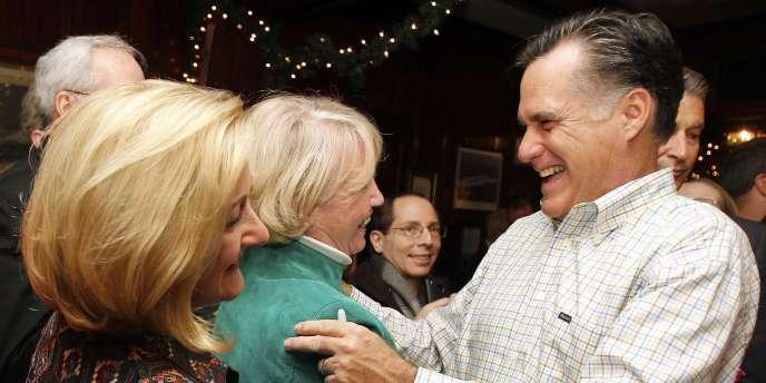 Mitt Romney, en campagne dans le New Hampshire, le 31 décembre 2011.