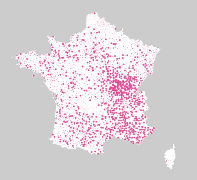 Le vote pour Arnaud Montebourg au premier tour de la primaire par bureau de vote