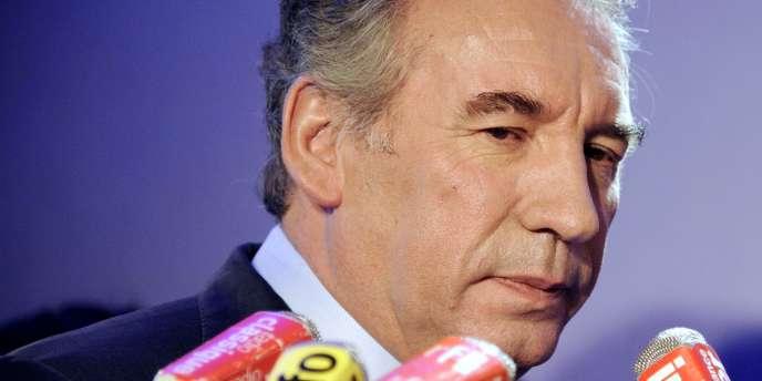 Le président du MoDem, François Bayrou, le 3 janvier 2012, à Paris.
