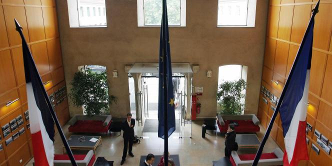 Vue du hall principal de l'Ecole nationale d'administration (ENA) prise le 24 septembre 2005 à Strasbourg.