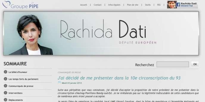 Faux communiqué de la députée européenne Rachida Dati réalisé grâce à une faille technique sur son site
