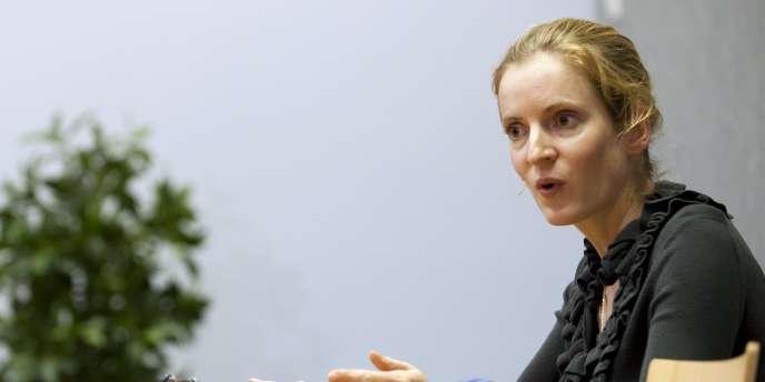 Nathalie Kosciusko-Morizet lors d'une conférence de presse le 10 octobre 2011 au Luxembourg.