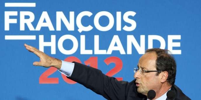 François Hollande, le 5 janvier 2012 à Caen.