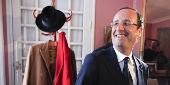 A Jarnac le 8 janvier, sur les traces de François Mitterrand, François Hollande a voulu s'imprégner de