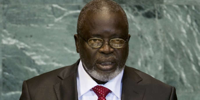 Le président de Guinée-Bissau, Malam Bacai Sanha, à l'assemblée générale de l'ONU, à New York, le 25 septembre.