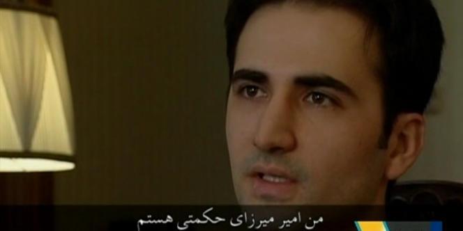 Image de la télévision iranienne montrant la confession d'Amir Mirzaï Hekmati.
