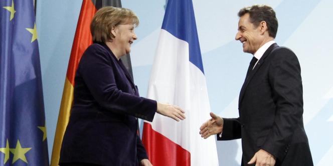 Angela Merkel et Nicolas Sarkozy, lundi 9 janvier, à Berlin.