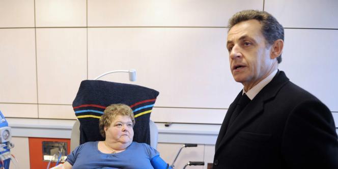 Nicolas Sarkozy en visite à Mulhouse, mardi 10 janvier. Il a fustigé l'idée d'une réforme du quotient familial,