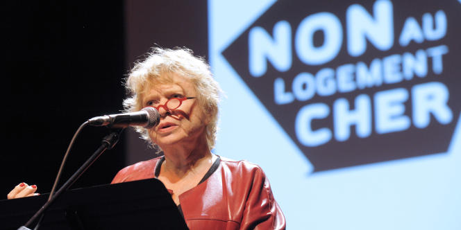 Eva Joly, lundi 9 janvier au meeting contre le logement cher à Paris.