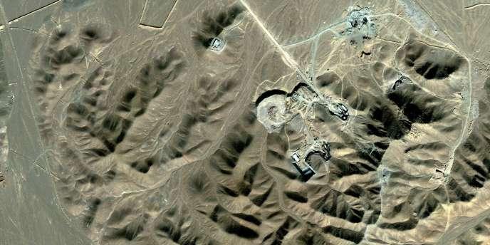 Image satellite du site d'enrichissement d'uranium présumé de Fordow, près de Qom, en Iran.