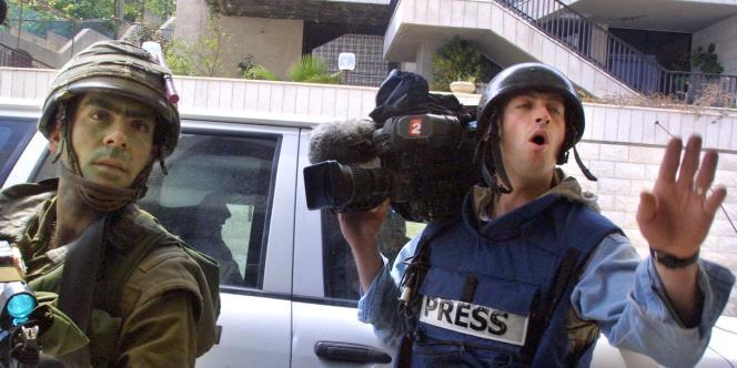 Le journaliste Gilles Jacquier en Cisjordanie, en 2002. Il a été tué le 11 janvier 2012 à Homs.