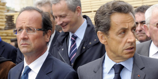 François Hollande et Nicolas Sarkozy, en Corrèze, le 28 avril 2011.