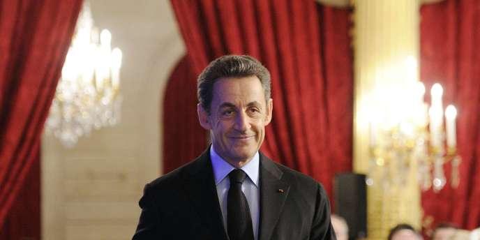 Nicolas Sarkozy à l'Élysée, le 11 janvier 2012.