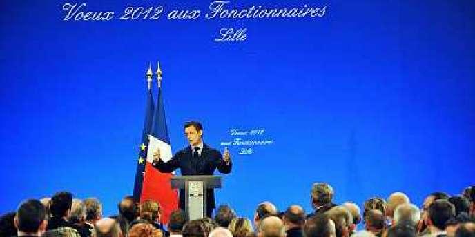 Nicolas Sarkozy a présenté ses vœux aux fonctionnaires jeudi 12 janvier, à Lille.