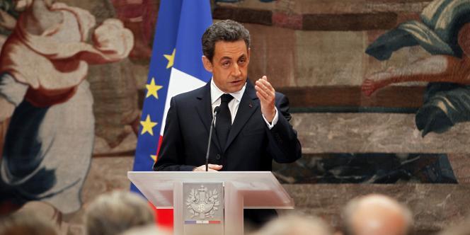 Nicolas Sarkozy lors de ses vœux aux hautes juridictions, le 13 janvier 2012.