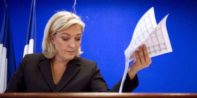 Marine Le Pen, à Paris, le 12 janvier 2012.