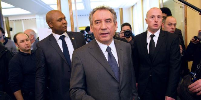 François Bayrou, le 14 janvier à Paris pour son premier