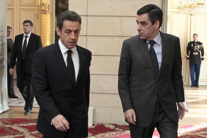 Nicolas Sarkozy et François Fillon, le 13 janvier à l'Elysée.