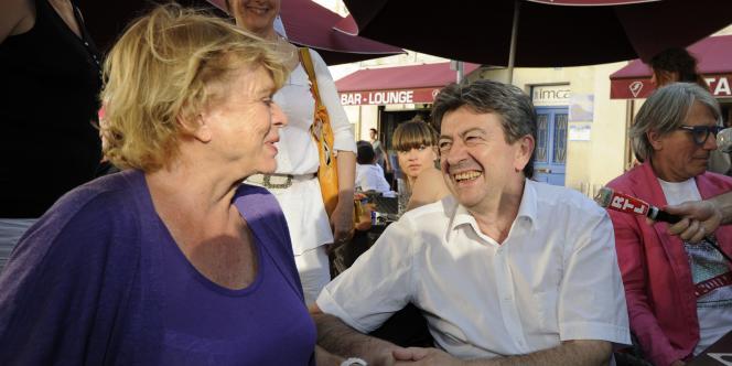 Eva Joly et Jean-Luc Mélenchon, le 15 juillet à Avignon lors du