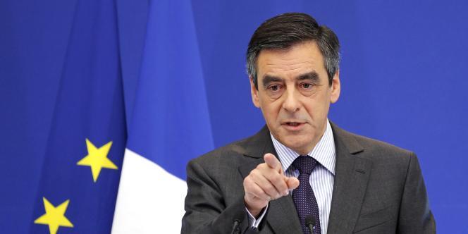 François Fillon, à Paris, le 14 janvier 2012.