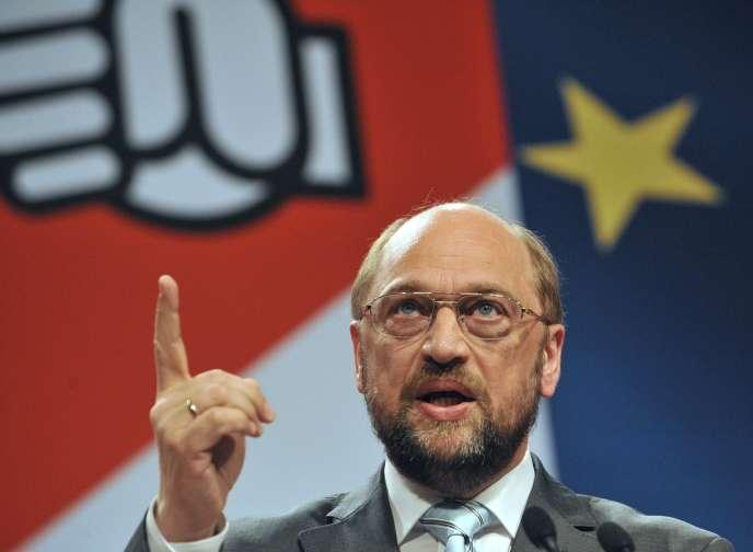 Le socialiste Martin Schulz, président du Parlement européen, déjà en lice pour prendre la tête de la Commission européenne, en 2014.