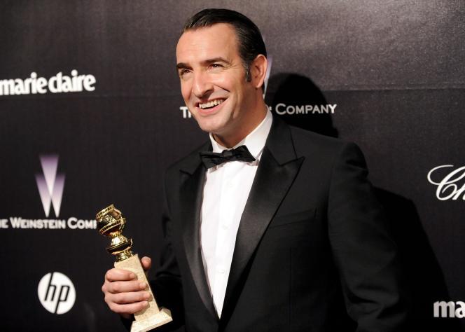 L'acteur Jean Dujardin et son Golden Globe pour son rôle dans