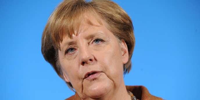 Angela Merkel, la chancelière allemande, le 13 janvier 2012 à Kiel.