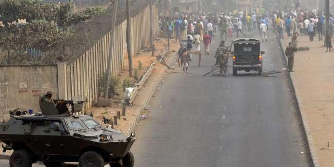 A Lagos, le 16 janvier 2012.