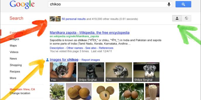 Les pages de résultats de Google donnent désormais une très large place aux résultats issus de Google+, le réseau social de l'entreprise.