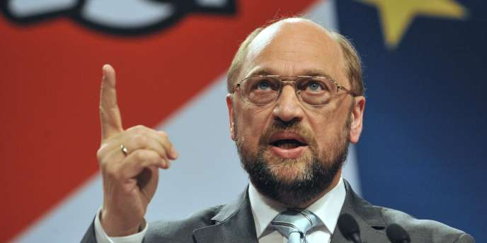 L'Allemand Martin Schultz, président (SPD) du Parlement européen et candidat à la présidence de la Commission, ici à Strasbourg.
