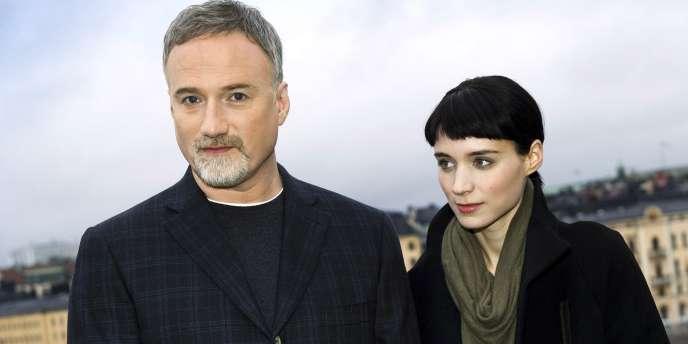 Le réalisateur David Fincher et l'actrice Rooney Mara à Stockholm (Suède), le 21 novembre 2011.