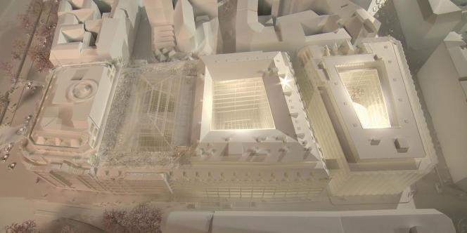 La maquette du projet de rénovation de La Samaritaine par l'agence japonaise Sanaa