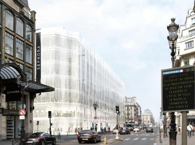 La façade de verre du bâtiment