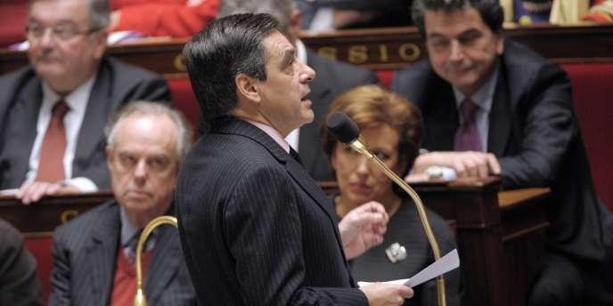 Le premier ministre, François Fillon, à l'Assemblée nationale, le 17 janvier.