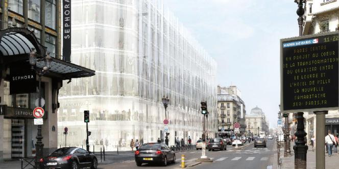 Projet Sanaa de rénovation de la Samaritaine, dont le permis de construire a été annulé par le tribunal administratif de Paris mardi 13 mai.