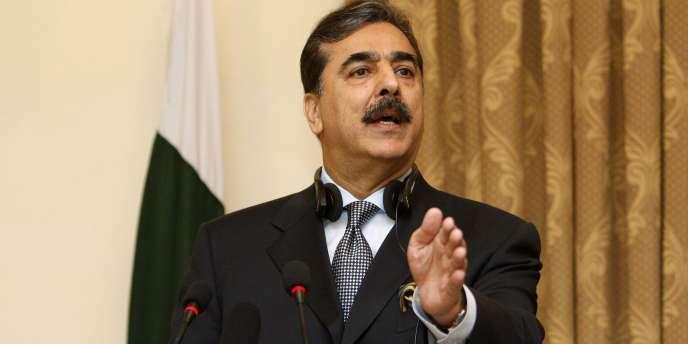L'ancien premier ministre pakistanais, Youssouf Raza Gilani, le 16 avril 2011, à Kaboul dont le fil a été enlevé jeudi 9 mai.