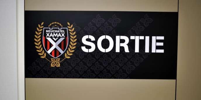 Au siège du club de football suisse de Neuchâtel Xamax.