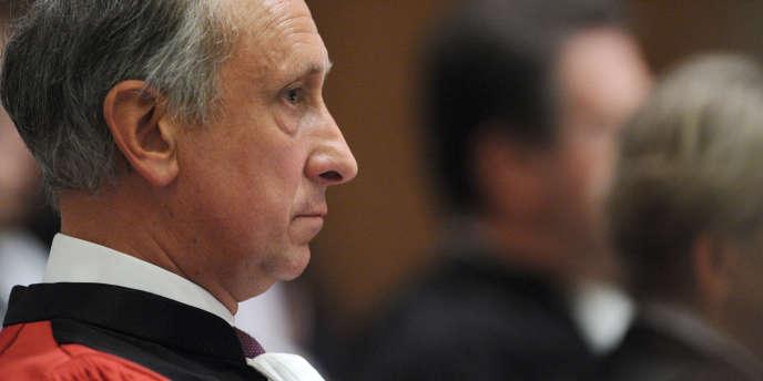 Le procureur Philippe Courroye, en septembre 2010 au tribunal de grande instance de Nanterre.