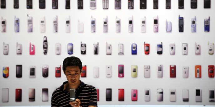 Salon de téléphonie mobile à Tokyo, en mai 2010.