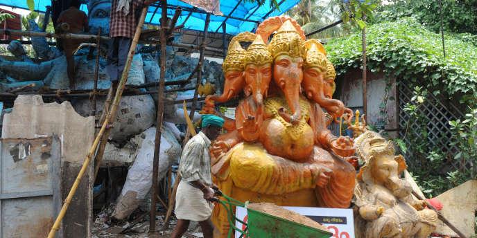 Dans les rues de la capitale de l'état indien du Kerala.