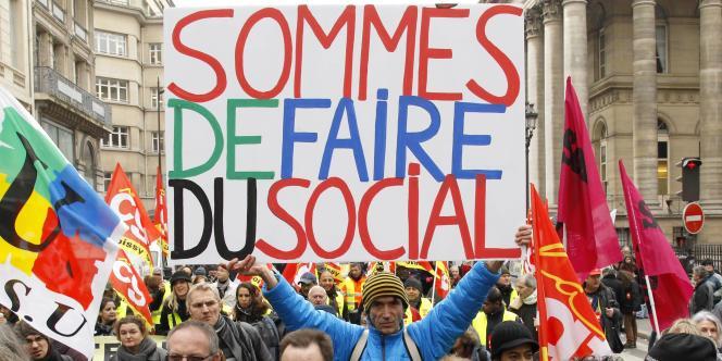 Manifestation à Paris, mercredi 18 janvier.