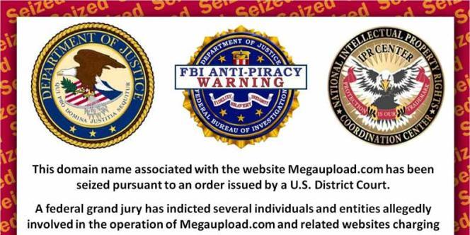 Capture écran du site Megaupload.