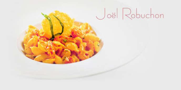 Les plats de Joël Robuchon, servis en cabine affaires sur les vols Air France au départ de Paris, ont nécessité plusieurs mois de mise au point.