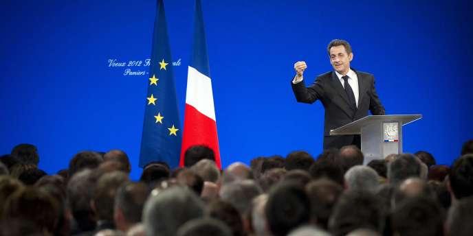 Nicolas Sarkozy présente ses voeux aux agriculteurs, le 17 janvier 2012, à Pamiers.