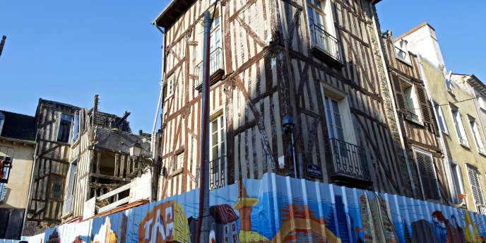 Dans le centre-ville de Rennes, le 16 janvier.