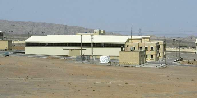 Une vue générale de la centrale nucléaire sur le site de Natanz, en Iran.