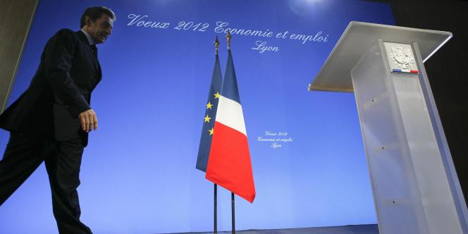 Nicolas Sarkozy à Lyon, jeudi 19 janvier, lors de ses voeux aux