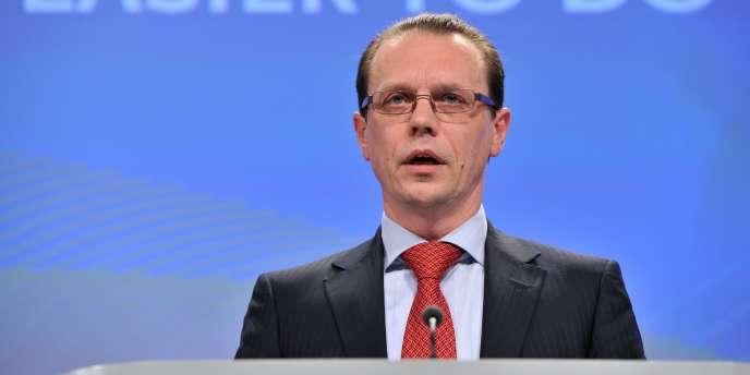 Algirdas Semeta, le commissaire européen chargé de l'Union douanière et de la fiscalité, en mars 2011.